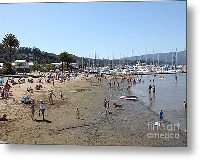 Sausalito Beach Sausalito California 5d22696 Metal Print by Wingsdomain Art and Photography