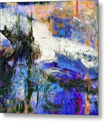 Metal Print featuring the painting Sausalito by Dominic Piperata