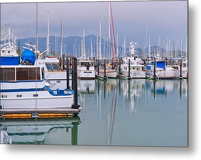 Sausalito Harbor California Metal Print
