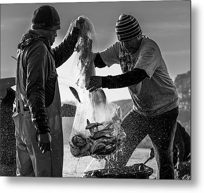 Sausalito Herring Run Metal Print by Nicholas Steinberg