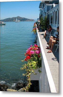Sausalito Leisure Metal Print by Connie Fox