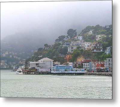 Sausalito Mists Metal Print by David Nichols