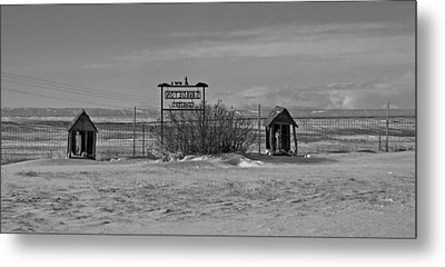 Metal Print featuring the photograph Savageton Cemetery  Wyoming by Cathy Anderson