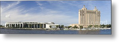 Savannah Ga Convention Center Pano Metal Print