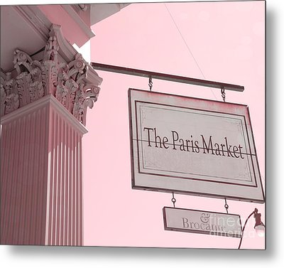 Savannah Georgia French Market - The Paris Market And Brocante - Parisian Flea Market Brocante Shop  Metal Print