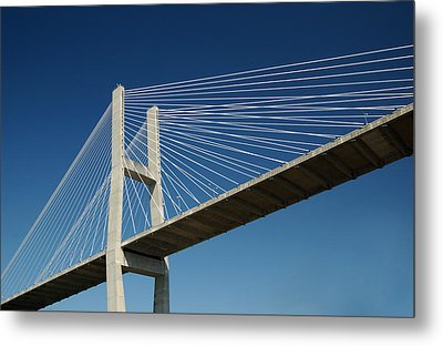 Savannah River Bridge Georgia Usa Metal Print by Bob Pardue