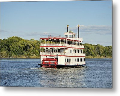 Savannah River Steamboat Metal Print