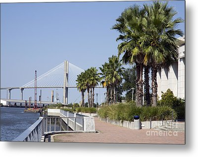 Savannah Riverwalk Metal Print