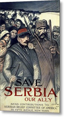 Save Serbia Our Ally Metal Print