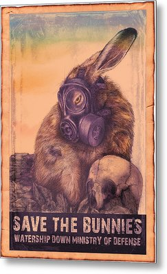 Save The Bunnies Metal Print by Penny Collins