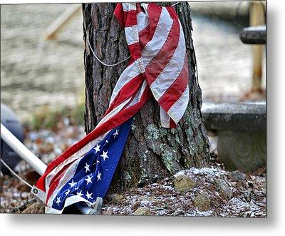 Save The Flag Metal Print by Susan Leggett