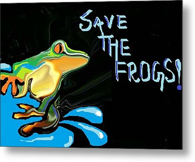 Save The Frogs Metal Print