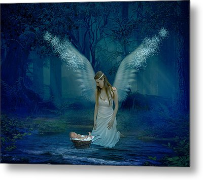 Saved By An Angel Metal Print by Ester  Rogers