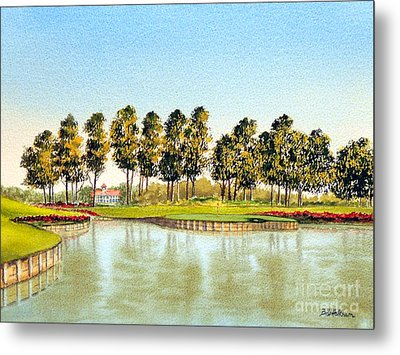 Sawgrass Tpc Golf Course 17th Hole Metal Print by Bill Holkham
