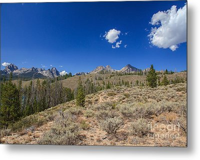 Sawtooth View Metal Print by Robert Bales