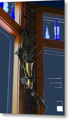 Metal Print featuring the photograph Sax At The Full Moon Cafe by Greg Reed