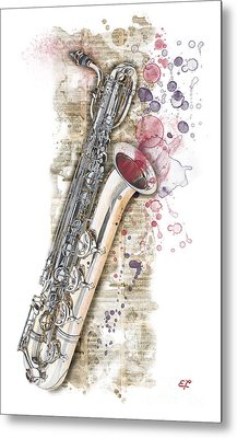 Saxophone 01 - Elena Yakubovich Metal Print