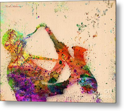 Saxophone  Metal Print by Mark Ashkenazi