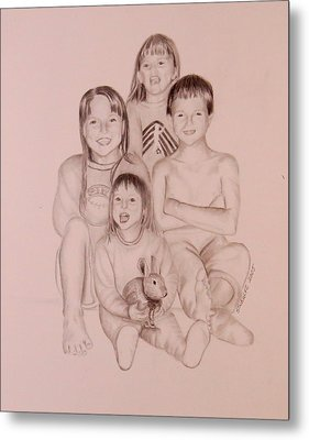 Metal Print featuring the drawing Say Cheese by Sharon Schultz