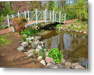 Sayen Foot Bridge Metal Print by Olivier Le Queinec