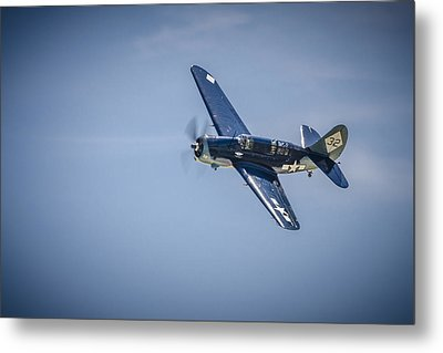 Metal Print featuring the photograph Sb2c Helldiver by Bradley Clay