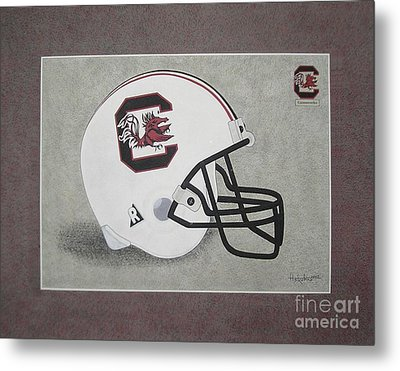 S.c. Gamecocks T-shirt Metal Print by Herb Strobino