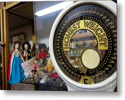 Scale In Antique Shop Metal Print by Amy Cicconi