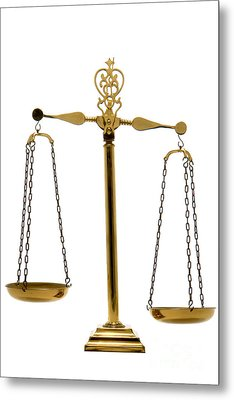 Scale Of Justice Metal Print by Olivier Le Queinec