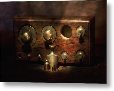 Scale Weights Still Life II Metal Print by Tom Mc Nemar