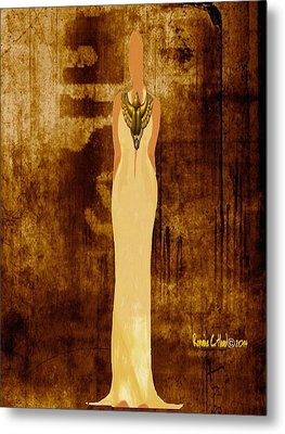 Scarab Sista Goddess Metal Print by Romaine Head