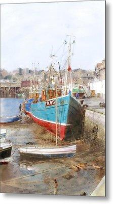 Scarborough Harbour Metal Print
