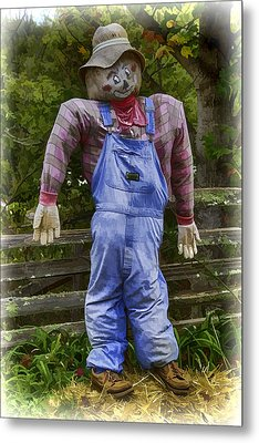 Scarecrow Metal Print by John Haldane