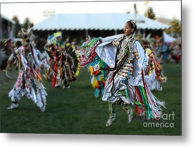 Scarf Fancy Dancer Metal Print by Scarlett Images Photography