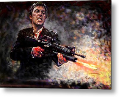Scarface Metal Print by Viola El