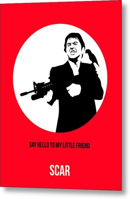 Scarface Poster 2 Metal Print by Naxart Studio