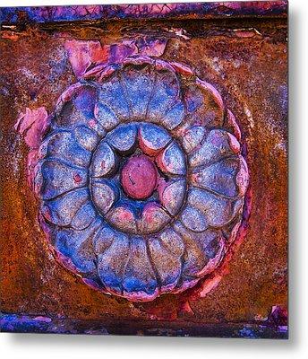 Scarlet Lady Vintage Square 2 Metal Print