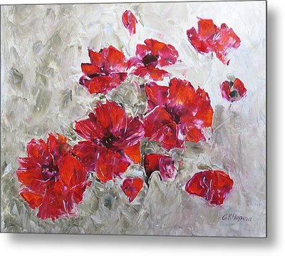 Scarlet Poppies Metal Print