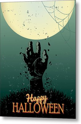 Metal Print featuring the painting Scary Halloween by Gianfranco Weiss