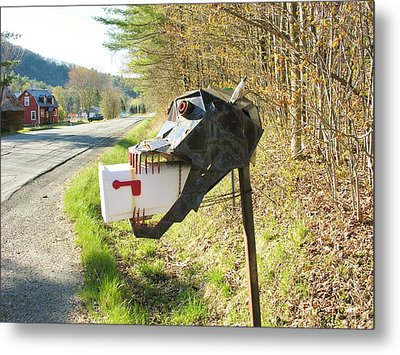 Metal Print featuring the photograph Scary Mailbox by Sherman Perry