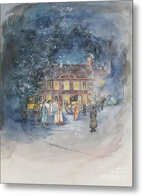 Scene From Jane Austens Emma Metal Print by Caroline Hervey Bathurst