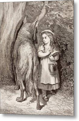 Scene From Little Red Riding Hood Metal Print