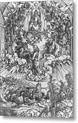 Scene From The Apocalypse Metal Print by Albrecht Durer or Duerer