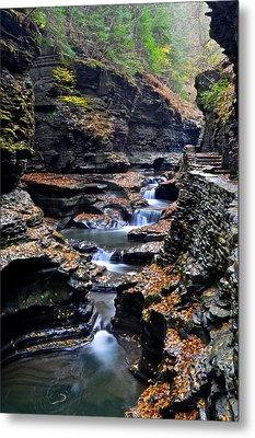 Scenic Cascade Metal Print