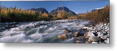Scenic Of Granite Creek In Autumn Sc Metal Print by Calvin Hall