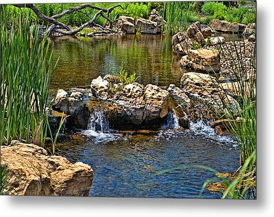 Scenic Pond Metal Print by Tim McCullough