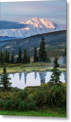 Scenic Sunrise View Of Denali Metal Print