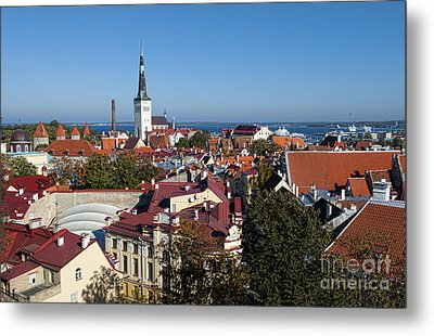 Scenic View Of Colorful Rooftops Metal Print by Bill Bachmann