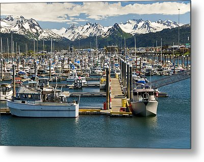 Scenic View Of The Homer Small Boat Metal Print by Bill Scott