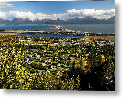 Scenic View Overlooking The Town Of Metal Print by Bill Scott