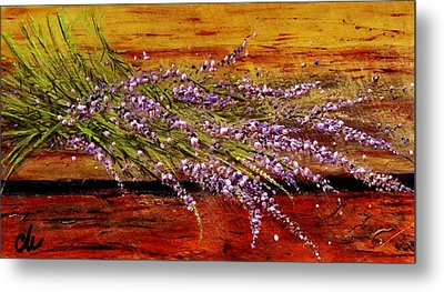Metal Print featuring the painting Scent Of Lavender... by Cristina Mihailescu
